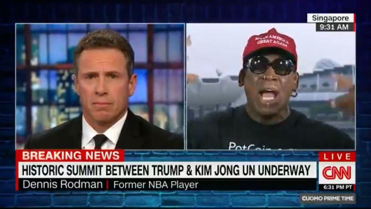 «Я верил в Северную Корею». Деннис Родман расплакался из-за встречи Дональда Трампа с Ким Чен Ыном