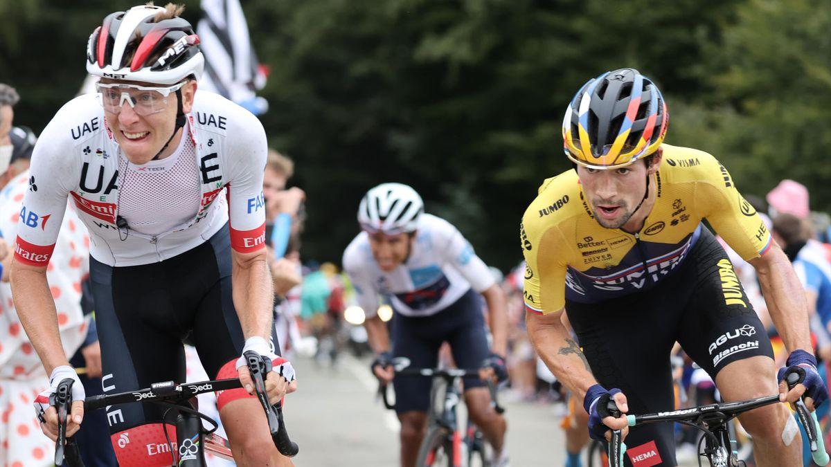 Primoz Roglic et Tadej Pogacar, le duo majeur du cyclisme slovène sur ce Tour 2020.