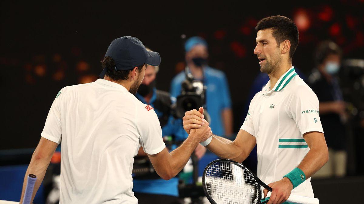 Highlights: Djokovic cruises past Karatsev into ninth Melbourne final