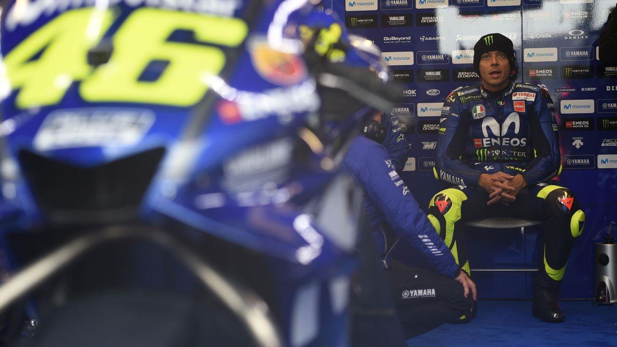 Valentino Rossi (Yamaha Factory) lors du Grand Prix de Grande-Bretagne 2018