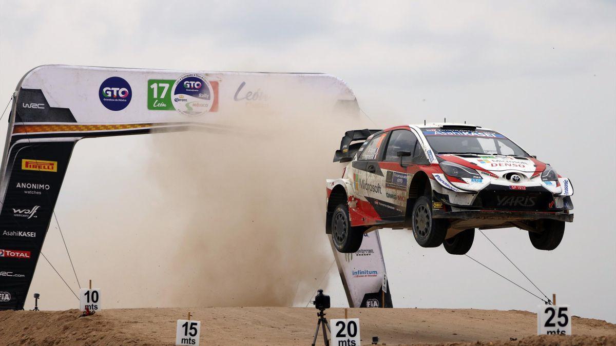 Sébastien Ogier (Toyota WRT) lors du Rallye du Mexique 2020