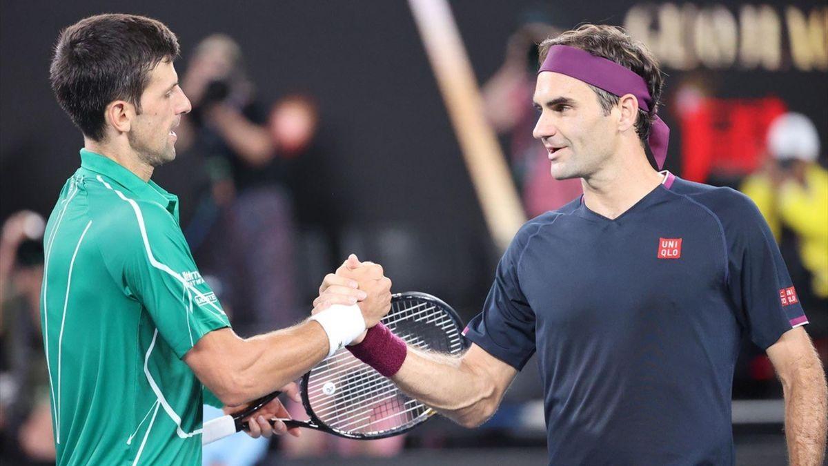 Federer en Djokovic op de Australian Open 2020