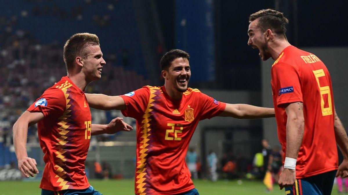 Fornals, Olmo, Fabian Ruiz - Spagna-Francia - 2019 Euro Under 21 - Getty Images