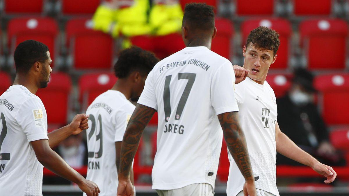Benjamin Pavard buteur lors de Union Berlin - Bayern Munich en Bundesliga le 17 mai 2020