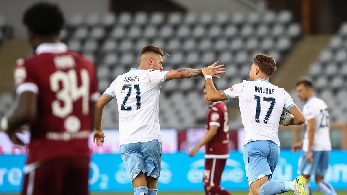 Milinkovic, Immobile - Torino-Lazio - Serie A 2019/2020 - Getty Images