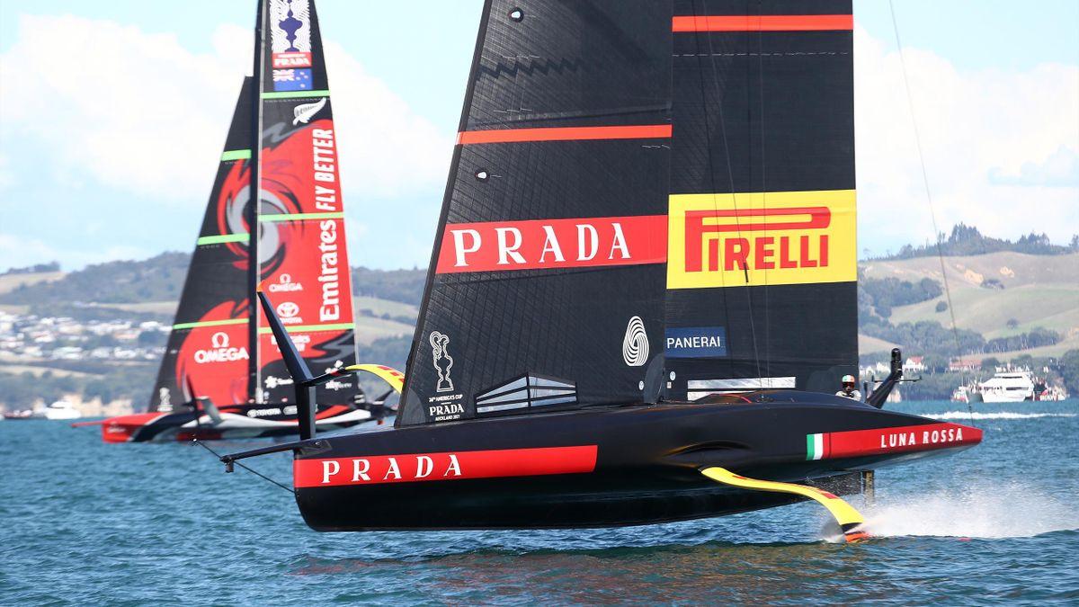 Luna Rossa in battaglia con Team New Zealand, Coppa America