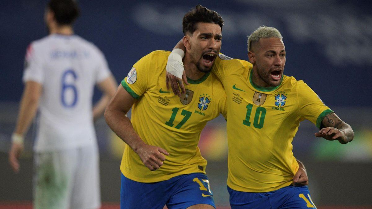 Lucas Paquetá y Neymar da Silva (Brasil)