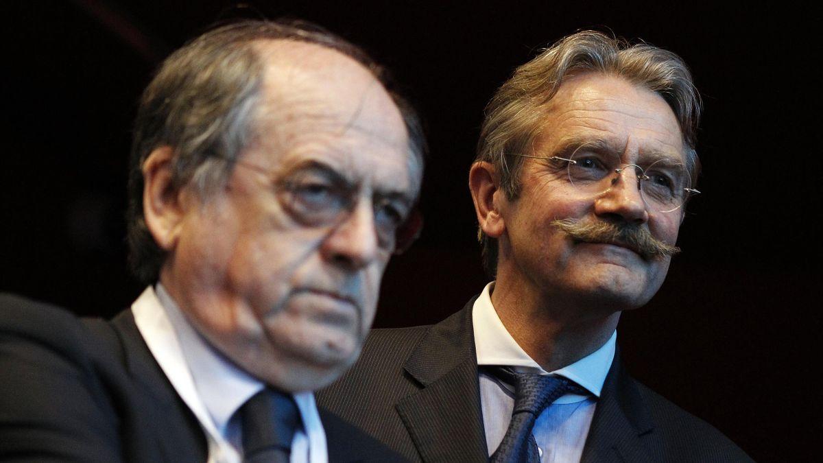 Noël Le Graët et Frédéric Thiriez, adversaires pour l'élection à la FFF, en 2012