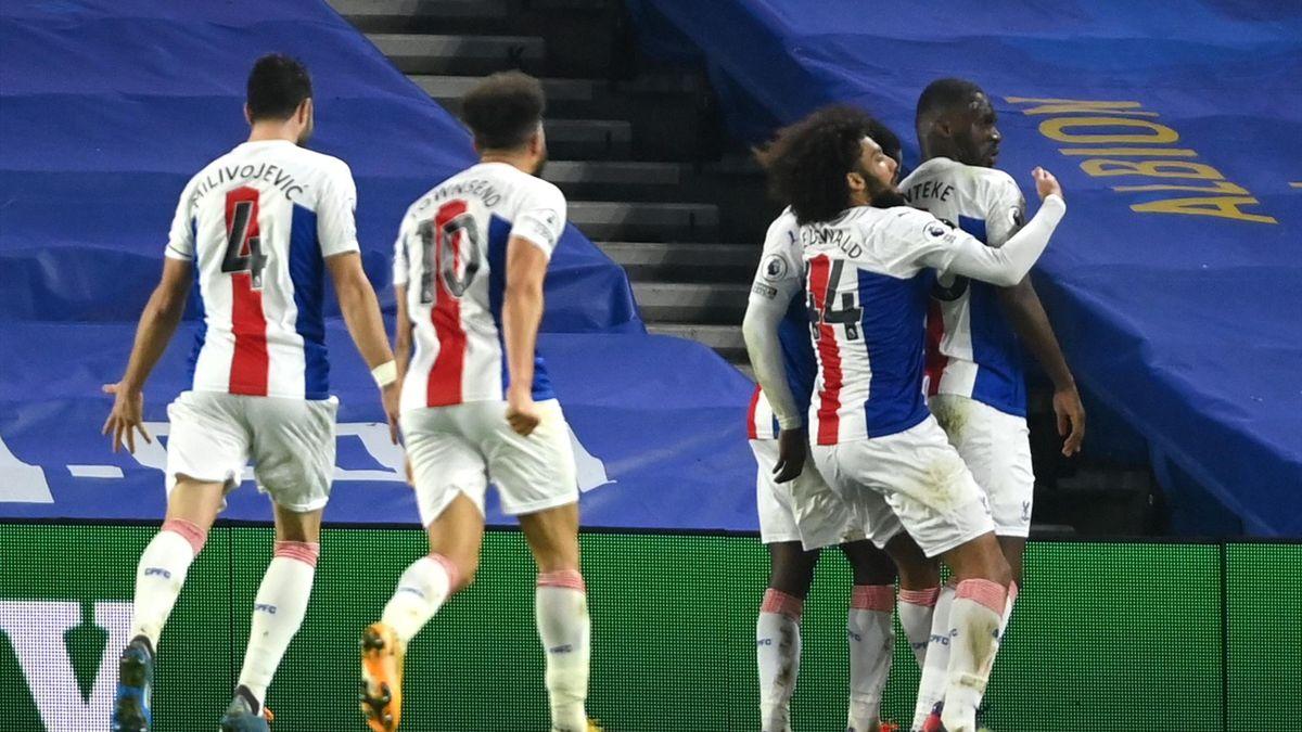 Crystal Palace celebrate Christian Benteke's late winner