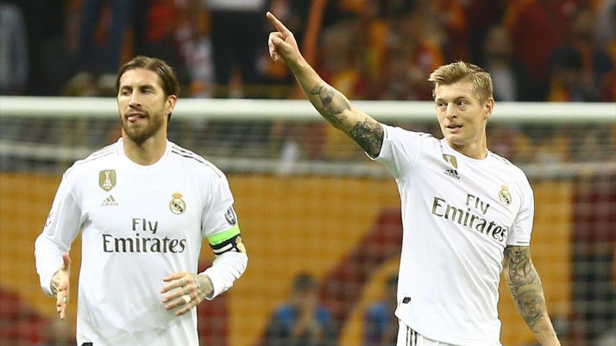 Sergio Ramos und Toni Kroos von Real Madrid