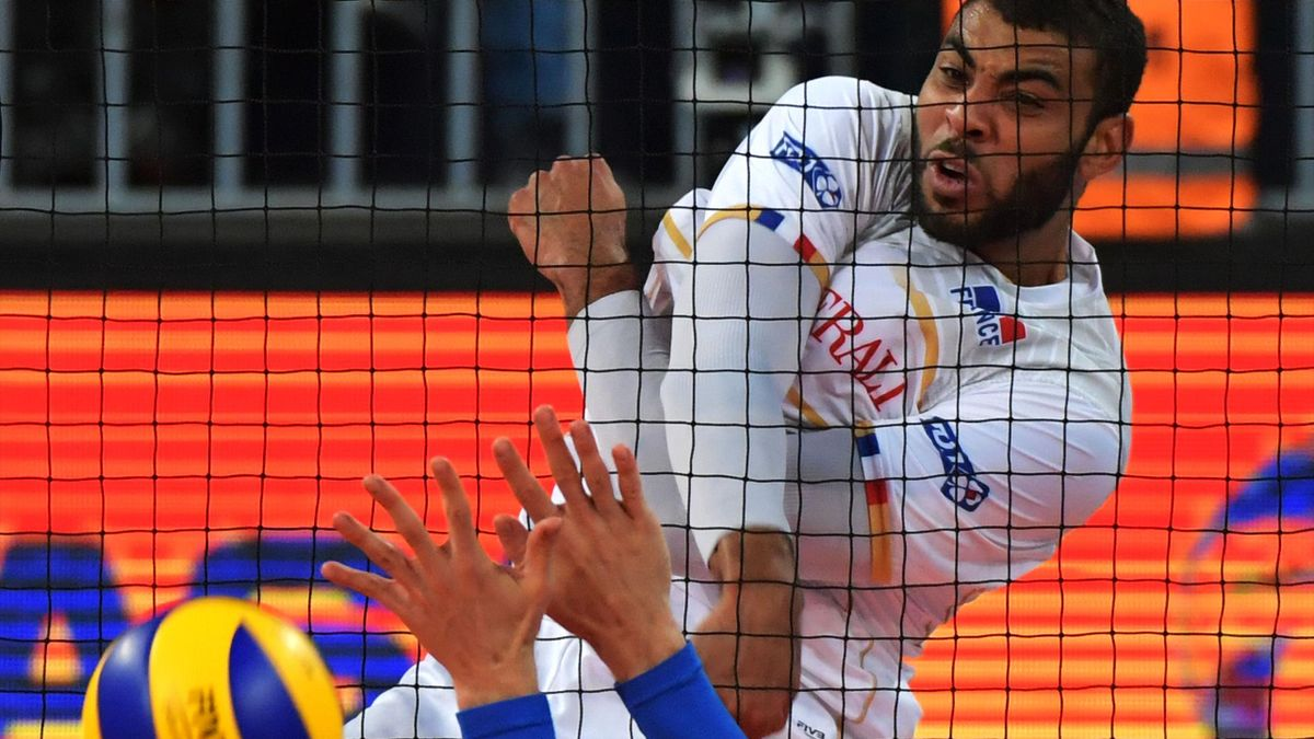Earvin Ngapeth lors de France - Serbie / Ligue Mondiale