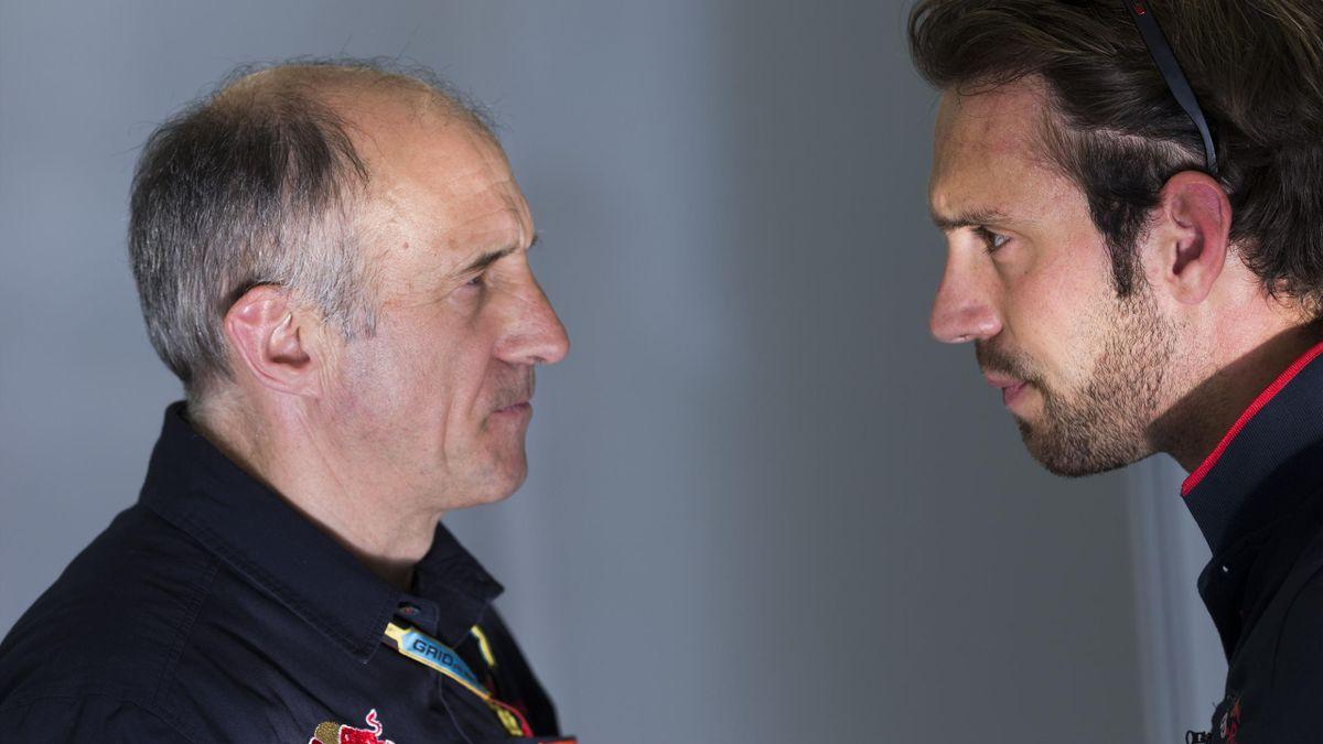 Jean-Eric Vergne et Franz Tost (Toro Rosso) au GP de Bahreïn 2014