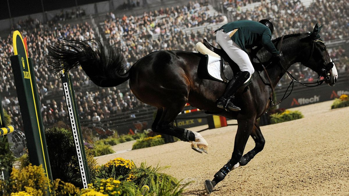 The jumping competition at the World Equestrian Games the last time it was held in Lexington, Kentucky, four years ago (AFP)