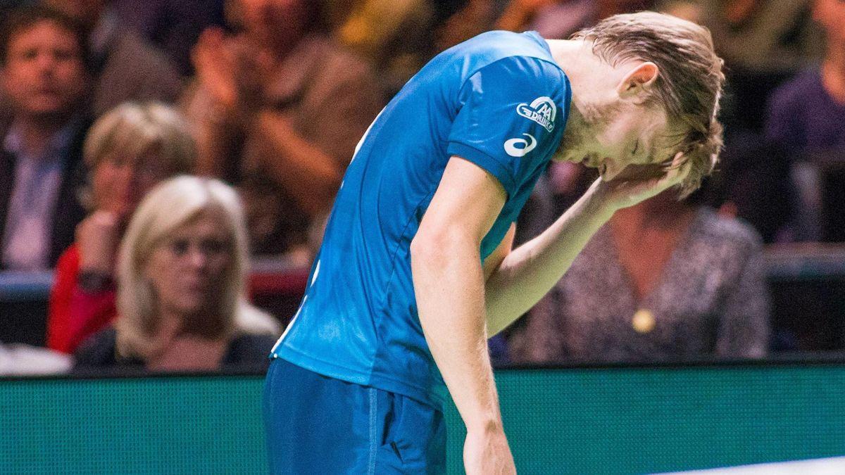 David Goffin a pris une balle dans l'oeil à Rotterdam et a dû abandonner.