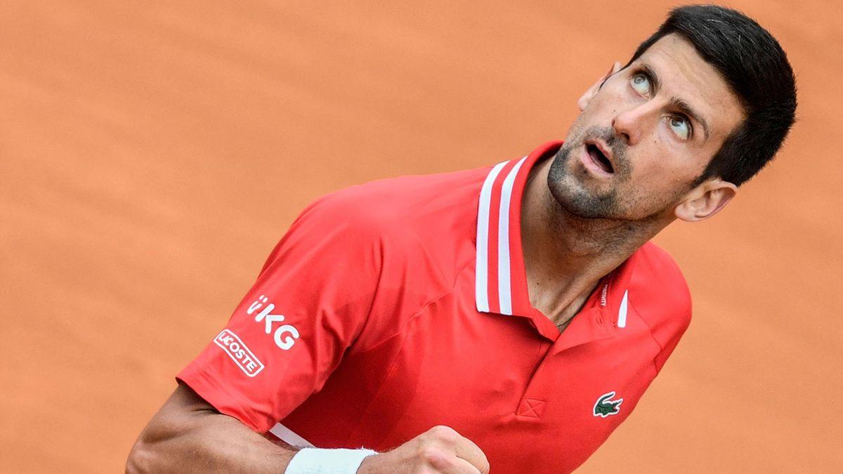 Novak Djokovic à Rome en 2021