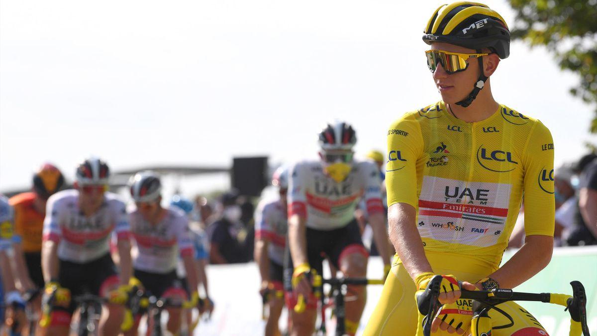 Tadej Pogacar im Gelben Trikot der Tour de France 2020