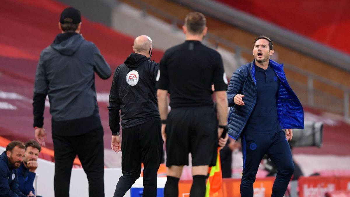 Frank Lampard poartă o dispută de la distanță cu Jürgen Klopp