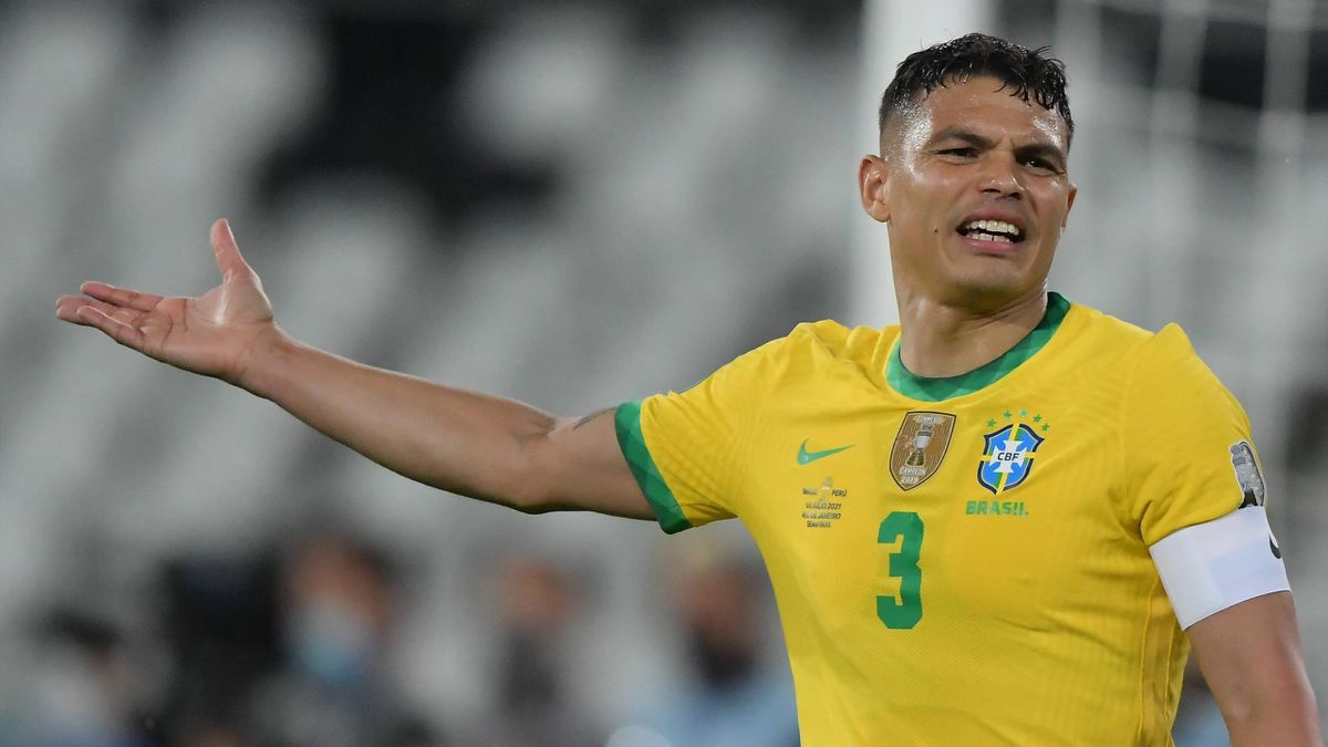 Thiago Silva sous le maillot du Brésil