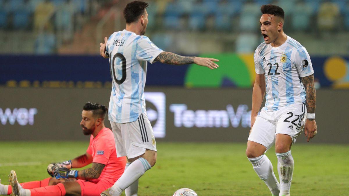 Lautaro Martinez Messi Argentina Ecuador Copa America