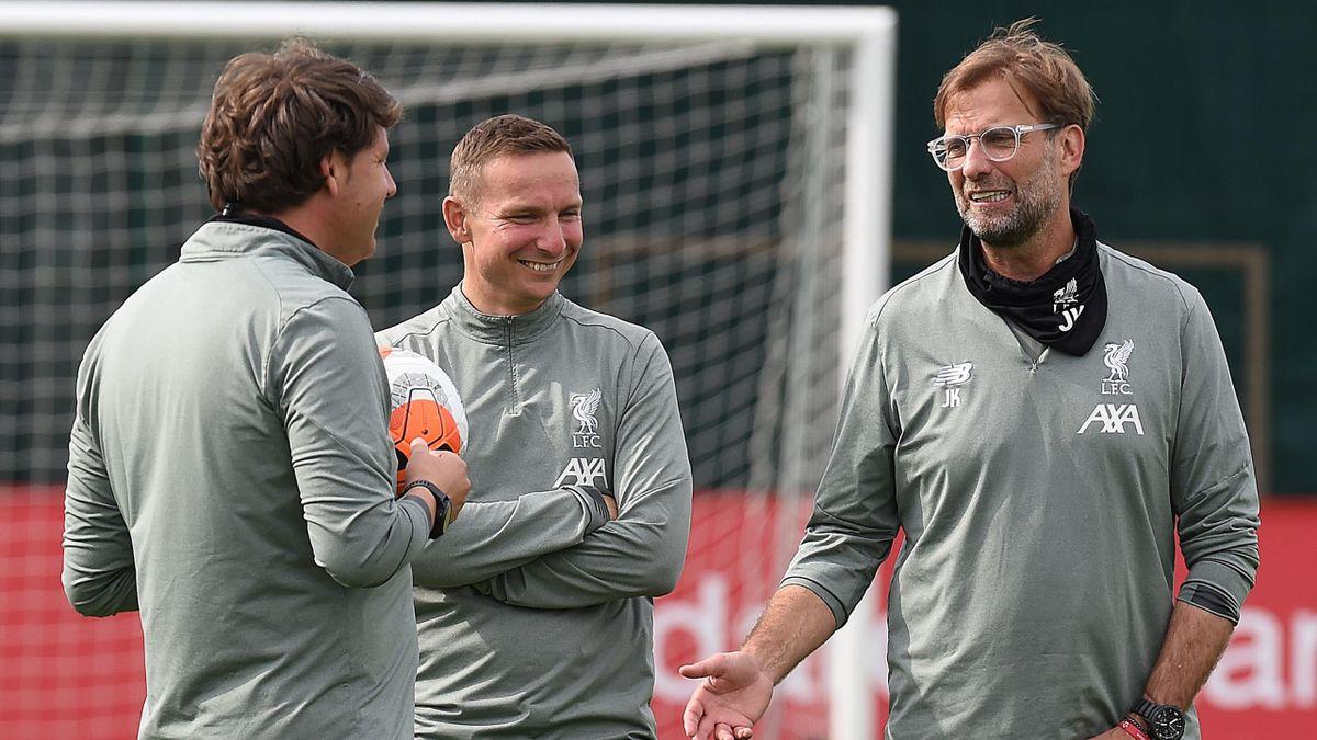 Teammanager Jürgen Klopp beim Training des FC Liverpool