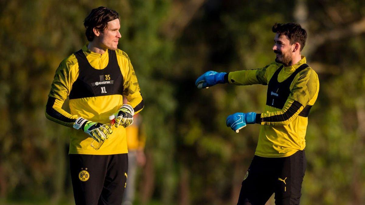 Zwei Toptorhüter bei Borussia Dortmund: Marwin Hitz (links) und Roman Bürki