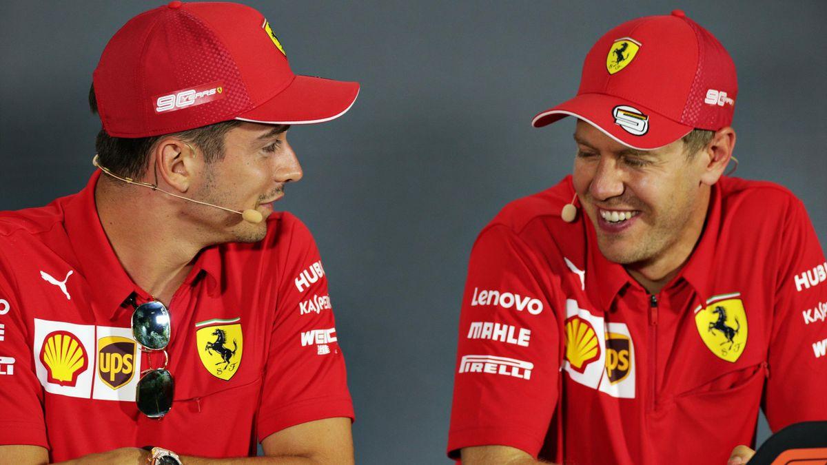 Charles Leclerc und Sebastian Vettel im September 2019