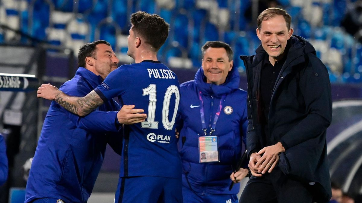 Chelsea manager Thomas Tuchel reacts during the Champions League semi-final first leg against Real Madrid.