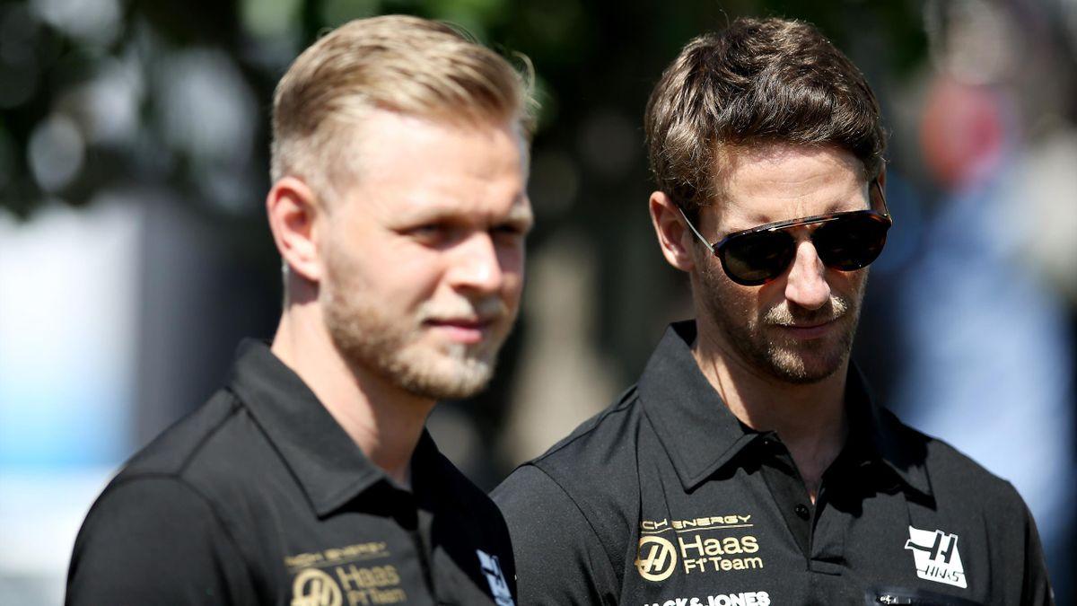 Romain Grosjean et Kevin Magnussen (Haas) au Grand Prix d'Australie 2019