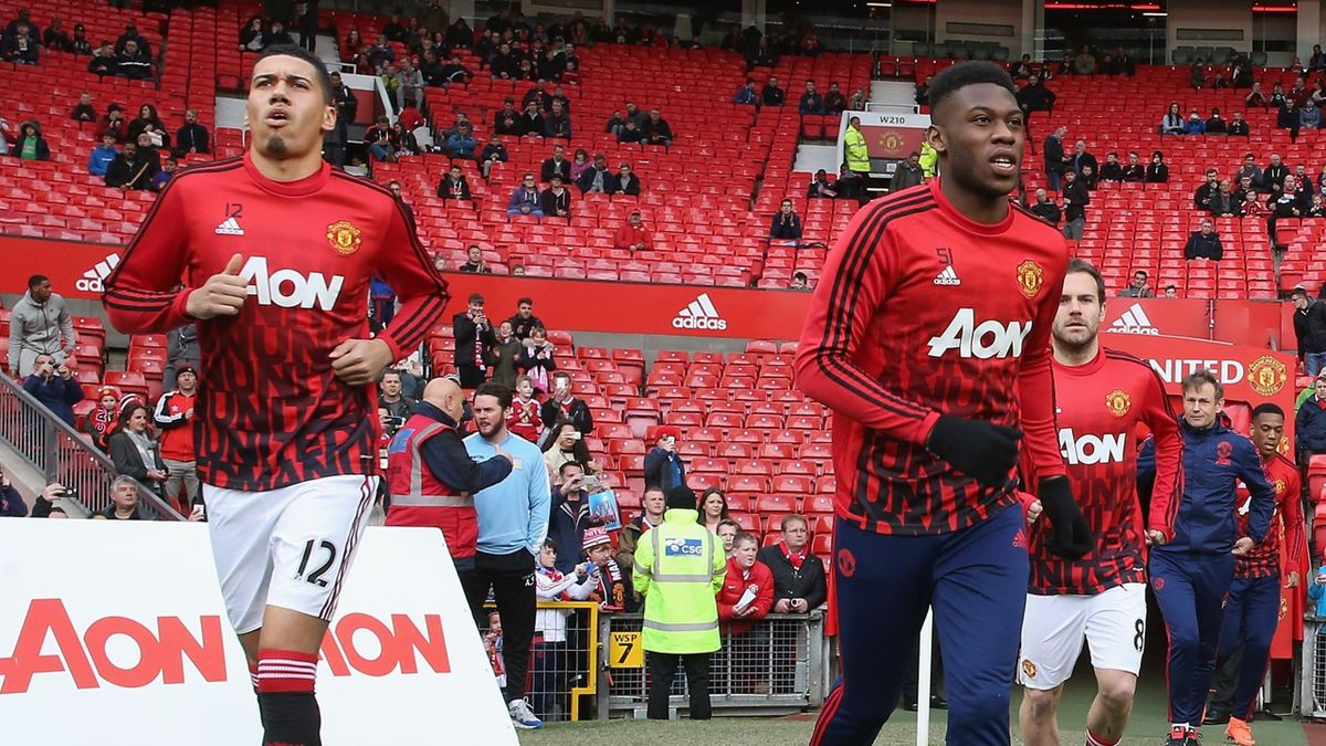 Chris Smalling e Timothy Fosu-Mensah, Manchester United 2015-2016 (Getty Images)