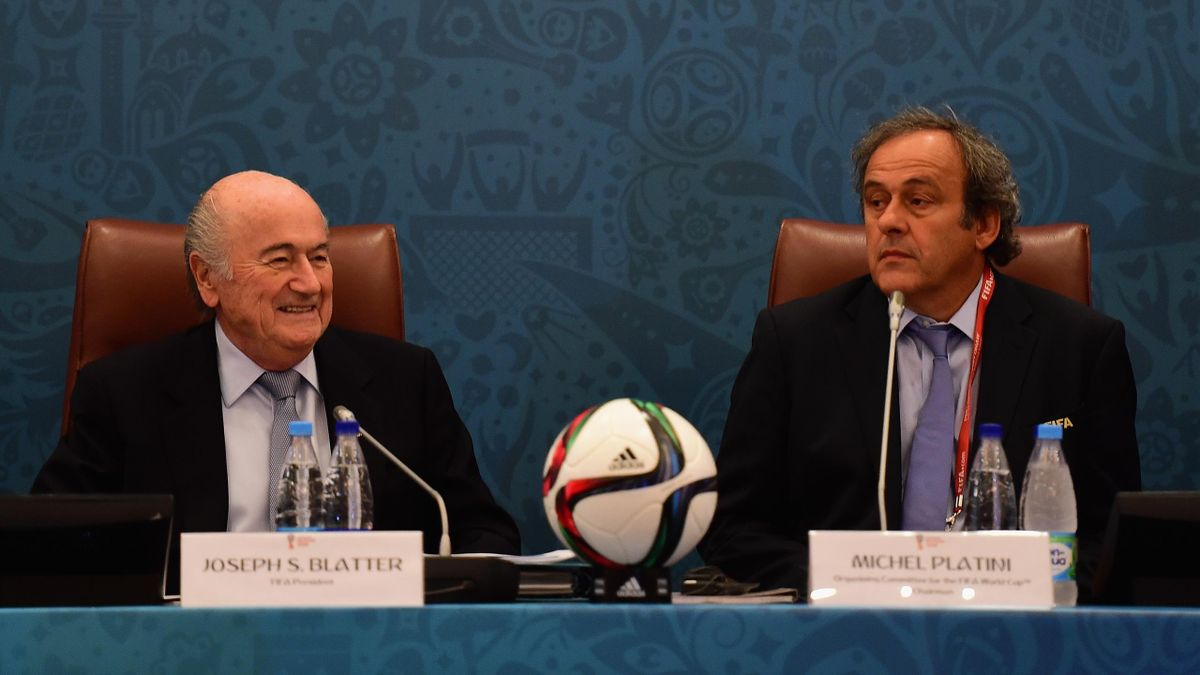 Sepp Blatter et Michel Platini.