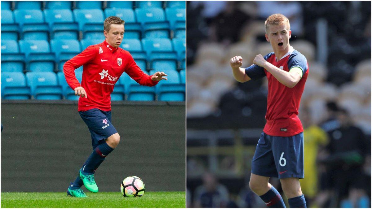 Mathias Kjølø (PSV) og Thomas Rekdal (Mainz) er begge med i U21-troppen til Leif Gunnar Smerud