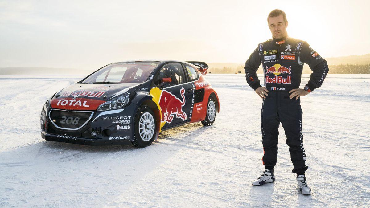 Sébastien Loeb (Peugeot Hansen) à Are le 16 février 2016