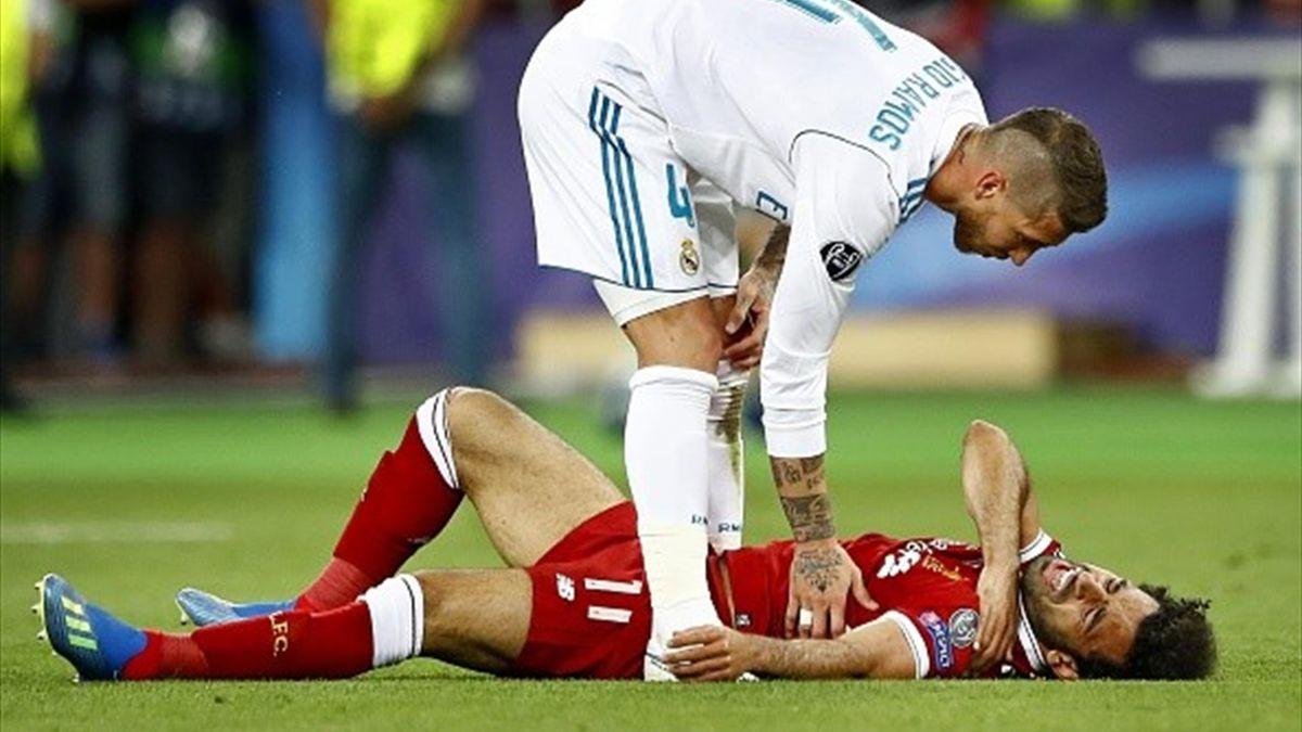 Petition gegen Sergio Ramos: Wütende Fans fodern Strafe nach Foul an Mohamed Salah