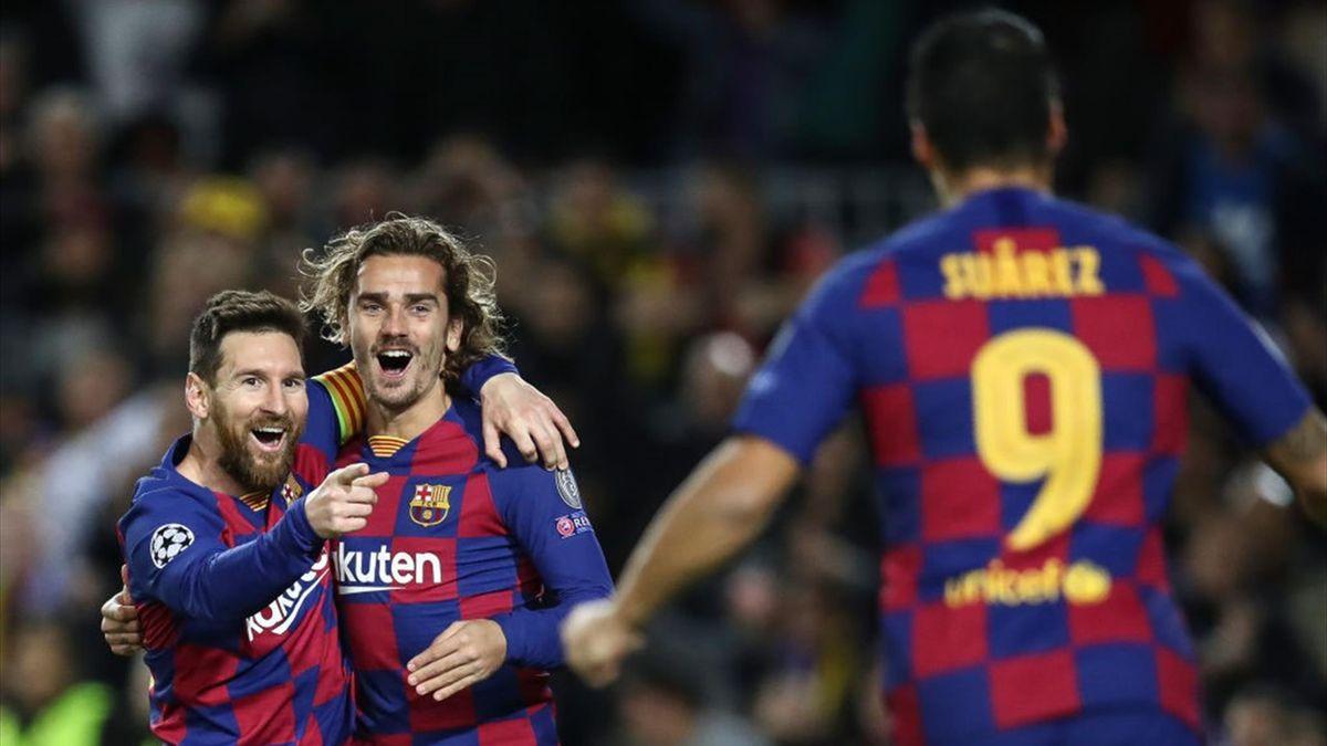 Lionel Messi, Antoine Griezmann et Luis Suarez