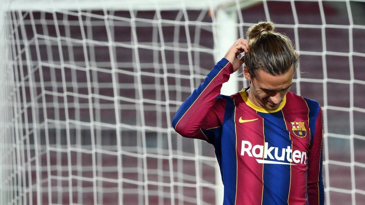 Antoine Griezmann lors de FC Barcelone - Dynamo Kiev en Ligue des champions