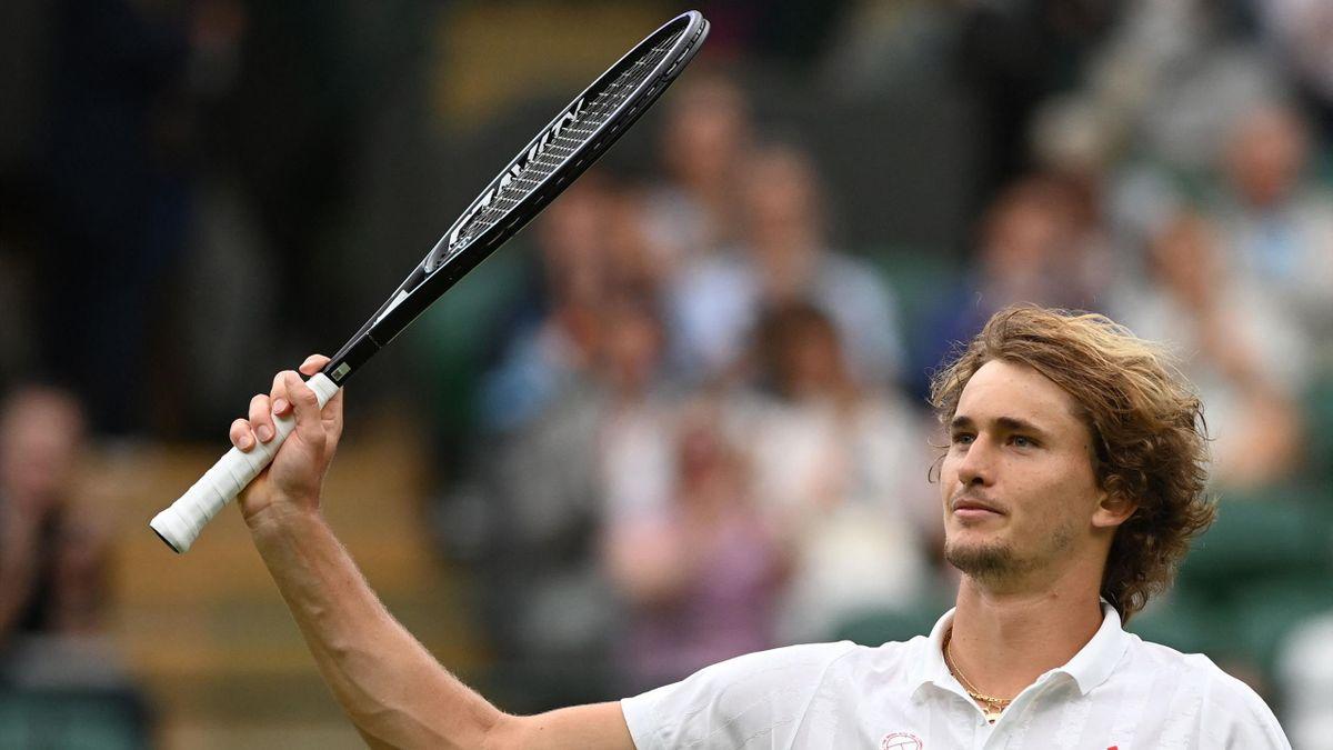 Alexander Zverev à Wimbledon en 2021