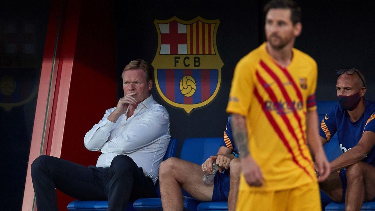Ronald Koeman și Lionel Messi