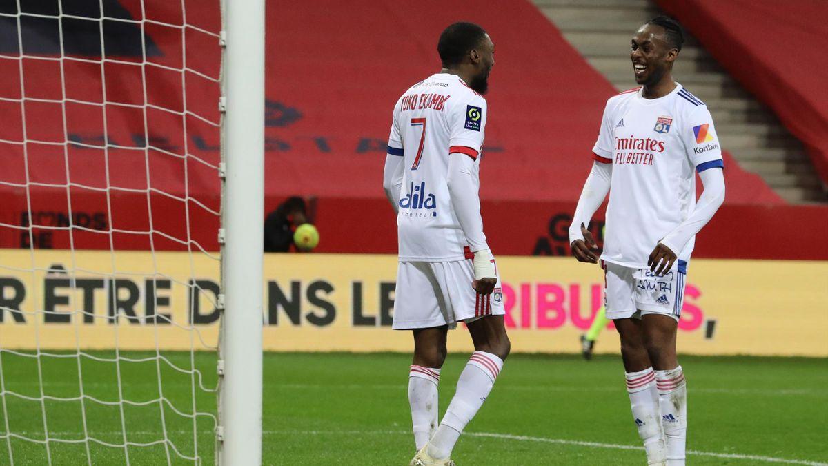 Ligue 1 - La large victoire de l'OL à Nice (1-4) lui offre la place de  leader provisoire - Eurosport