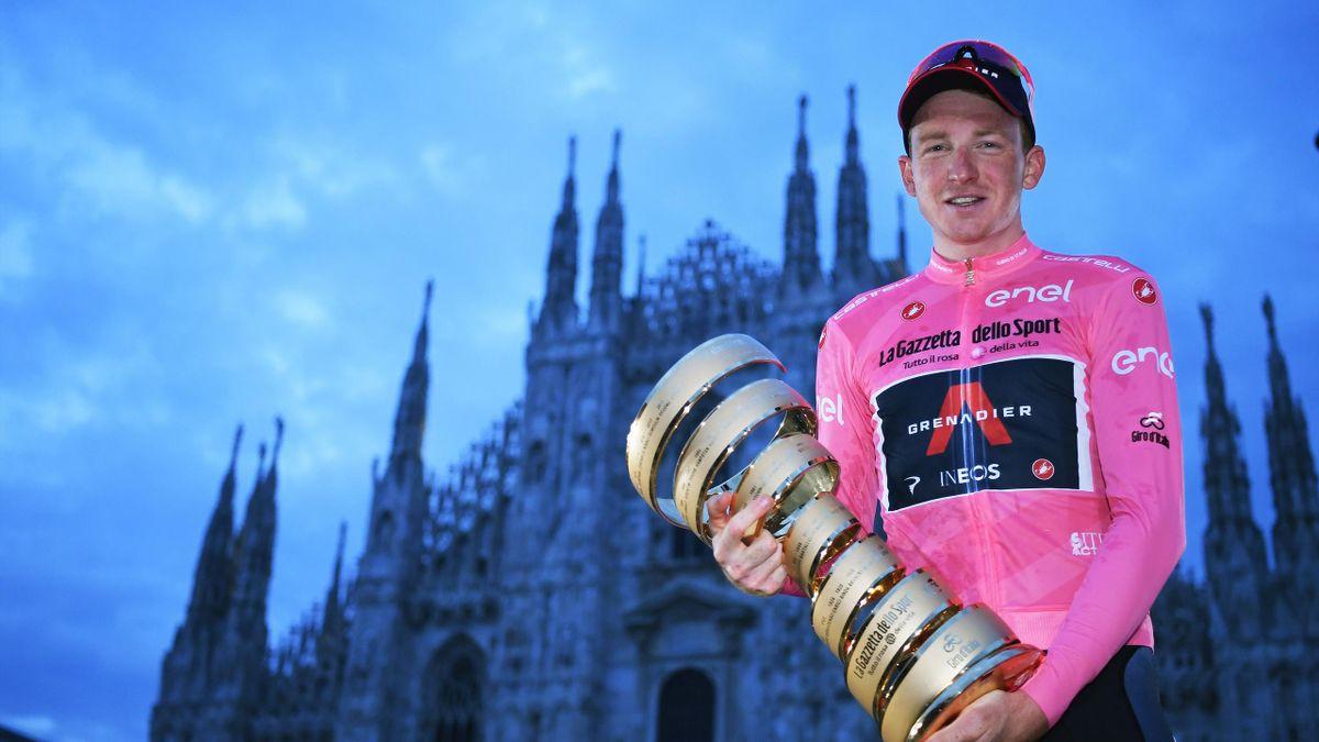 Vinneren av Giro d`italia 2020 - Tao Geoghegan Hart