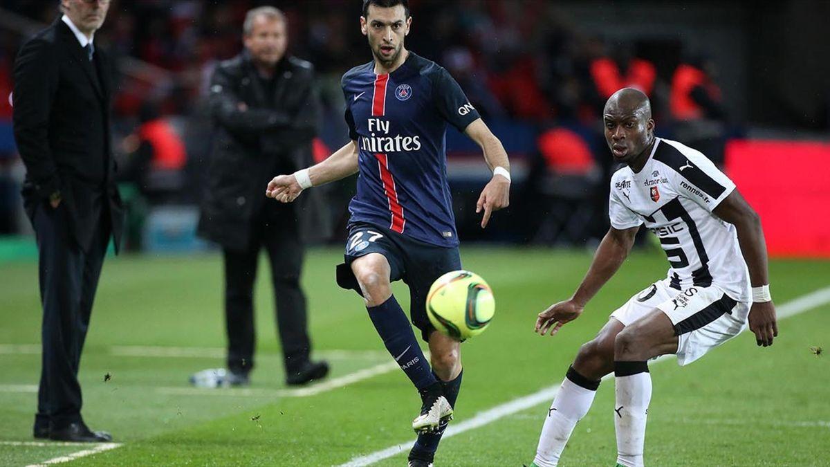 Sylla, în duel cu Pastore, pe când juca la Rennes