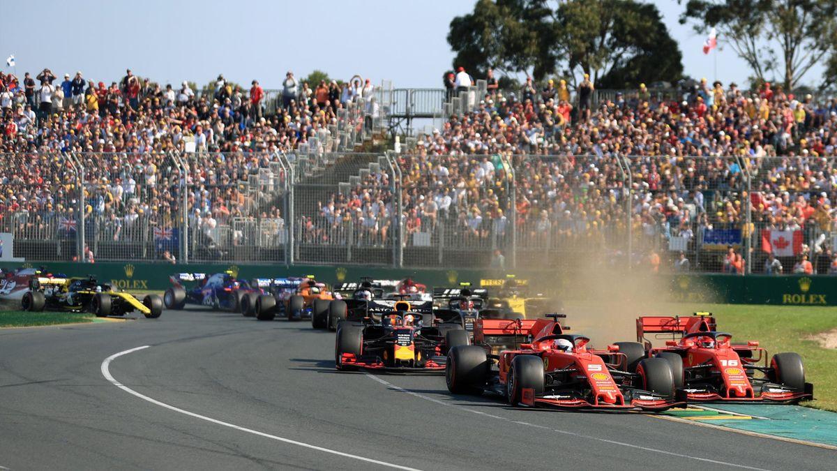 Sebastian Vettel and Charles Leclerc in GP Australia