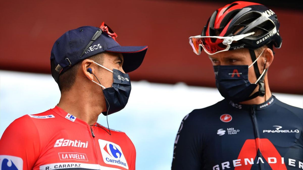 Richard Carapaz, Chris Froome - Vuelta 2020, stage 7 - Getty Images