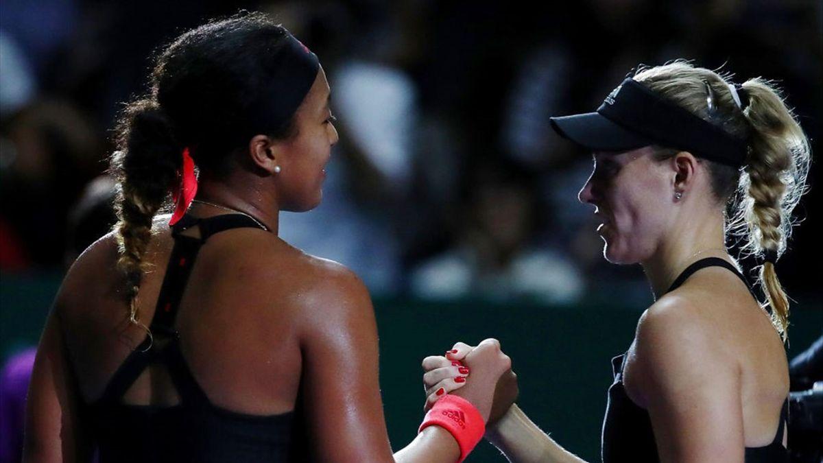 Angelique Kerber vs Naomi Osaka - WTA Finals 2018 - Getty Images