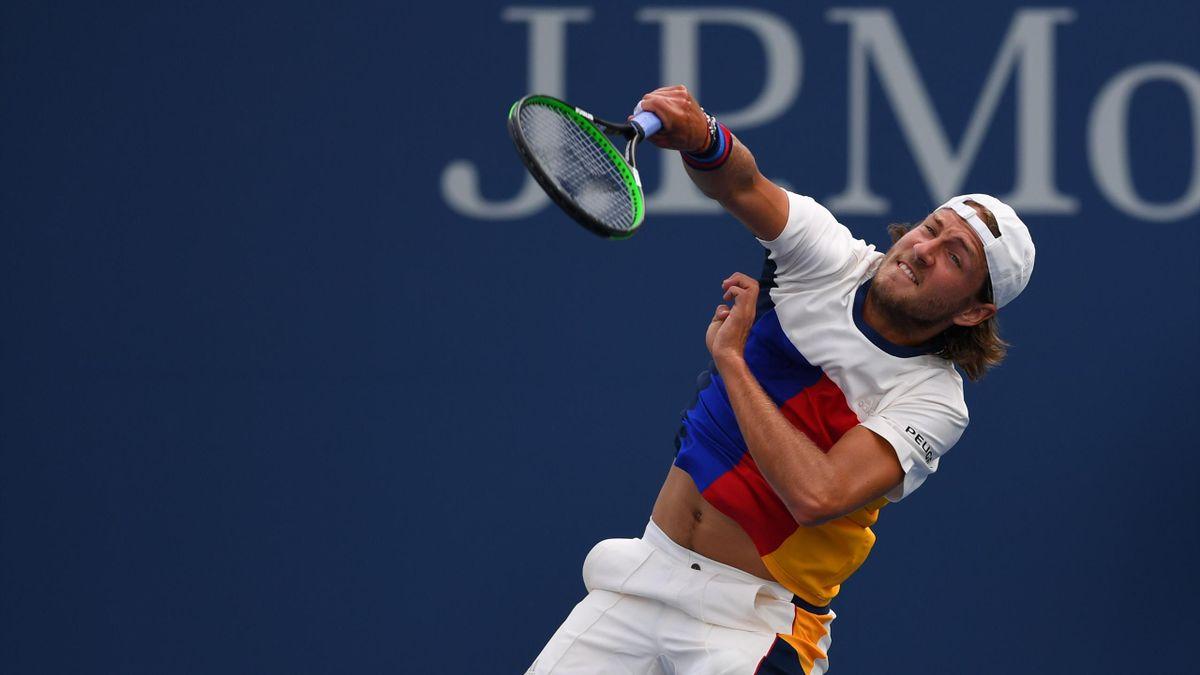 Lucas Pouille lors de l'US Open 2017