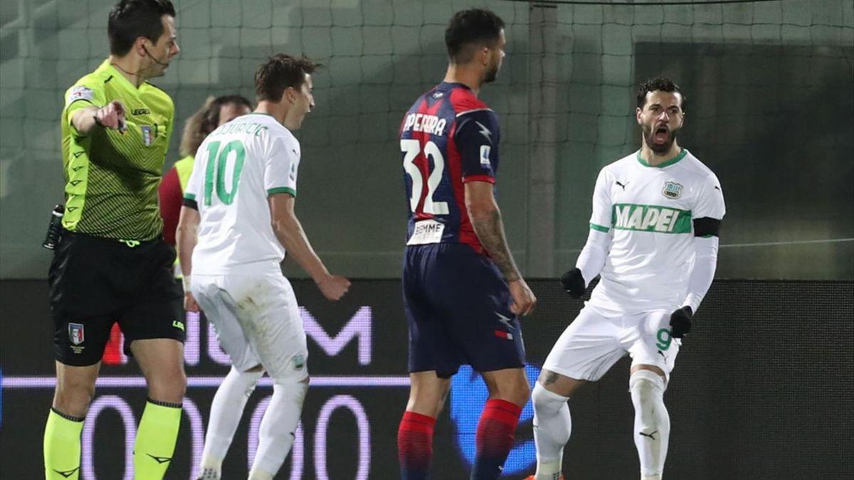 Francesco Caputo - Crotone-Sassuolo - Serie A 2020/2021 - Getty Images