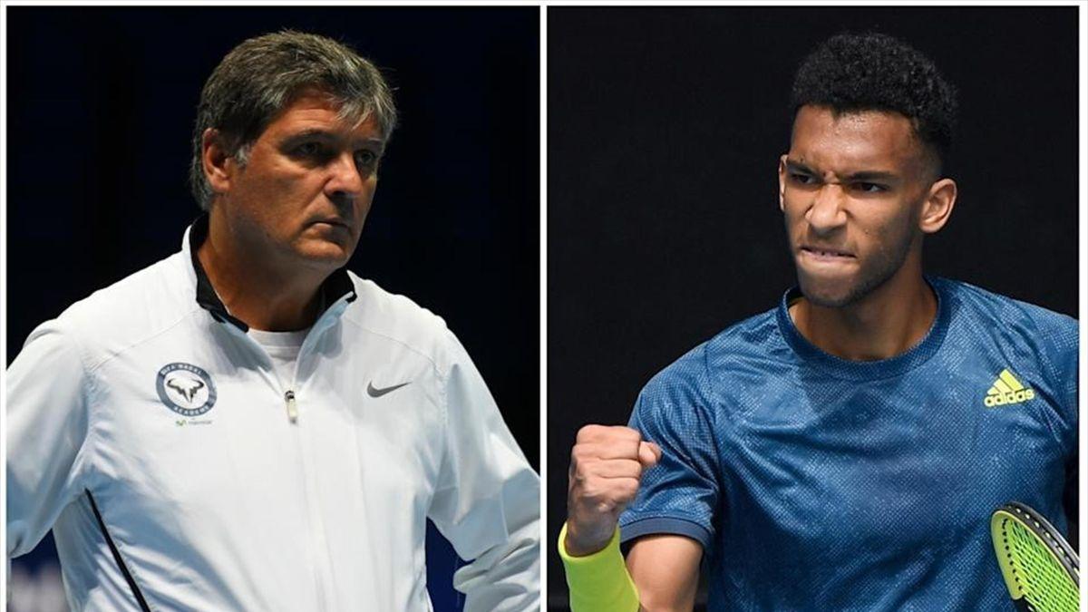 Toni Nadal y Felix Auger-Aliassime