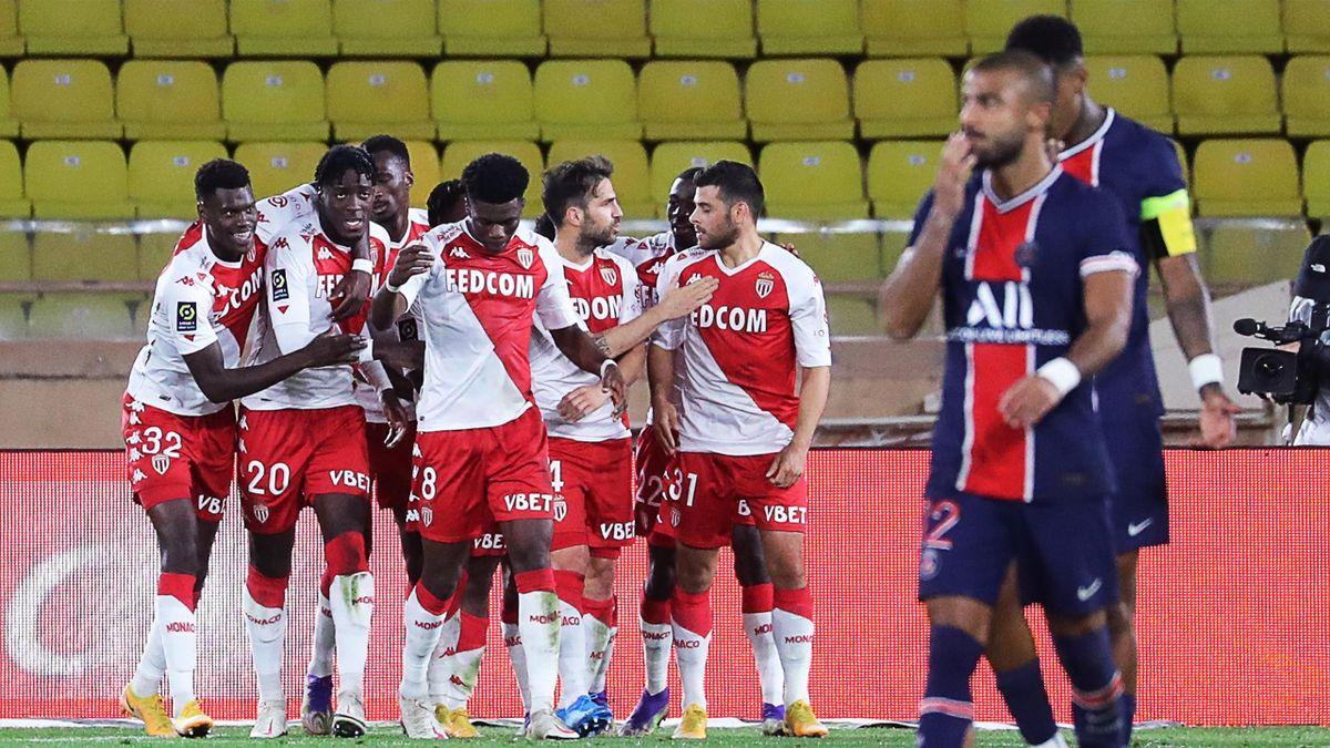 PSG a fost învinsă de Monaco cu 3-2, după ce în prima repriză a avut totul sub control și avans de două goluri