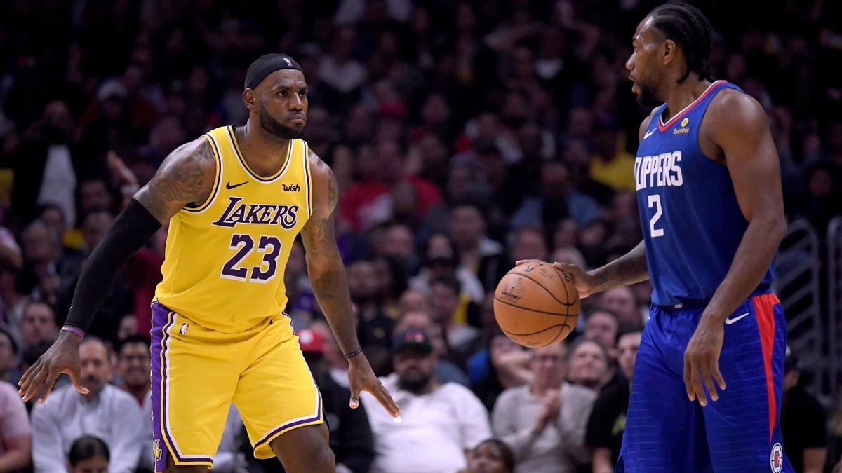 LeBron James et Kawhi Leonard (Lakers-Clippers)