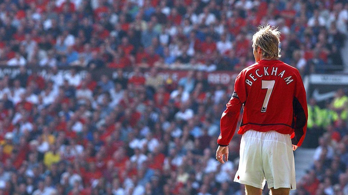 David Beckham a jucat pentru Manchester United în perioada 1992-2003