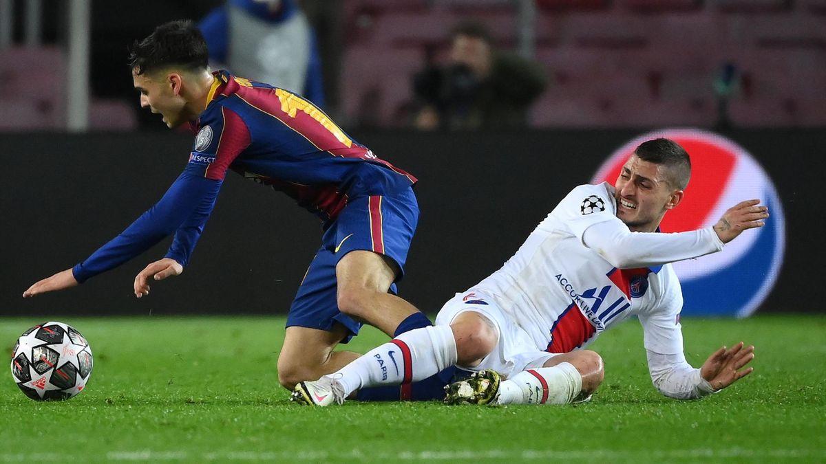 Marco Verratti face au Barça